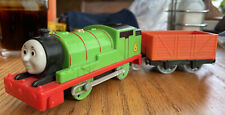 TOMY 2014 GULLANE THOMAS AND FRIENDS TALKING MOTORIZED PERCY W/ FREIGHT CAR