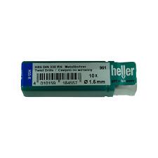 Heller 1.5mm HSS-R Twist Metal Drill Bits 10 Pack Rolled HSS Jobber German Tools
