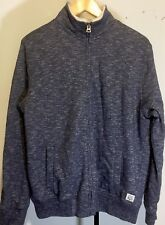 LUCKY BRAND Jacket Full Zip Faux Fur Lined Large Heather Grey Pattern NWOT