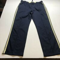 SJB Active Blue Yellow Stripe Athletic Workout Pants Sz XL A584