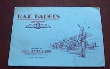 Tobacco trading cards john Player &Sons Album of R.A.F.Badges