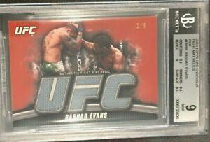 RARE MINT 2010 Topps UFC K/O Fight Mat Relic RASHAD EVANS/8 #FM-RE