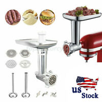 14PCS Food Meat Grinder Sausage Stuffer Attachment For KitchenAid Stand Mixer