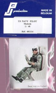 PJ Productions 1/48 US Navy Pilot Modern seated # 481114