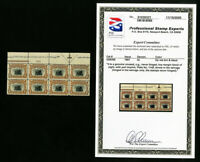 US Stamps #296 Rare Top PB of 8 Imprint w/ PSE Cert MNH Catalog Value $5,000.00