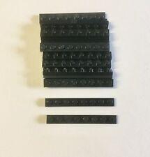 Lego 20 stück Lego Basic Steine 1 x 8 Stein flach in schwarz