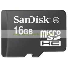 SanDisk Micro SD HC 16GB 16G Class 4 C4 Flash Memory Card New Lifetime Warranty