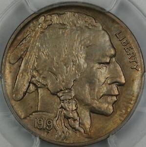 1919-D Buffalo Nickel, PCGS MS-64 *Gem Coin* Lightly Toned
