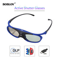 3D Active Shutter Glasses DLP-Link Home Movie Blue For Optoma BenQ Acer Sharp