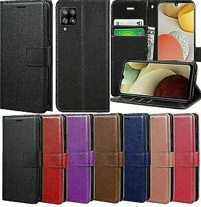 Mobile Leather Case Wallet Book Flip Stand Cover for Samsung Galaxy A12 Phone