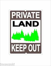 PRIVATE LAND NO TRESPASSING KEEP OUT SIGN RESIDENTIAL TRESPASS WOODS SECURITY