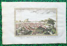 XVIII ème - Mexique - Rare & Beau Plan de Mexico par J N Bellin 41x27 cm de 1747