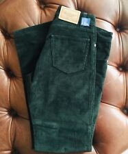 NEW! HACKETT Mens Luxury Pants Trousers Olive Green Cords Corduroy NEW $325 34