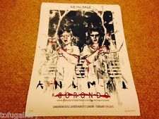 Sought-after! BORONDO Show ART Print Edn 100 S/N + PostCard / exhibition sheet