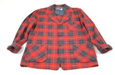 VTG Pendleton Buffalo Plaid Virgin Wool Hunting Barn Chore Coat Jacket Sz Large