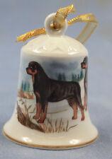 Rottweiler Porzellan glocke figur porzellan weihnachtsglocke 61