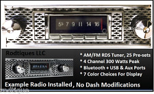 1955 Chevy Bel Air Bluetooth Stereo Radio Multi Color Display USA 740