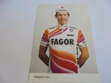 wielerkaart 1989 team fagor  eddy schepers