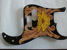 Tooled leather Pickguard for Fender P-Bass