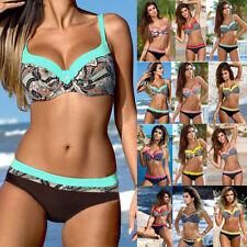 Sexy Damen Bikini Set Push Up Gepolsterter BHs Bademode Badeanzug Schwimmanzug