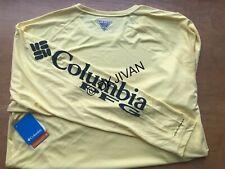 Columbia Pfg Terminal Tackle Longsleeve Yellow Swimming Fishing Shirt 2Xt Men
