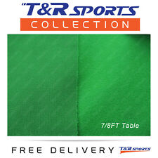 """Green Single-sided Pool Snooker Table Top Cloth Felt Indoor Outdoor 7""""/8"""""""
