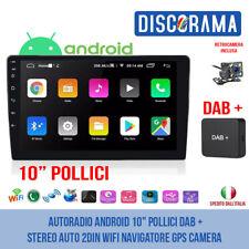 "AUTORADIO ANDROID 10"" POLLICI DAB + STEREO AUTO 2DIN WIFI NAVIGATORE GPS CAMERA"