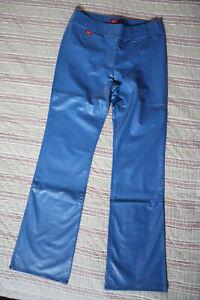 ♥ Pantalon miss sixty  bleu ♦ simili cuir PVC ♦ taille 30 ♥ VINTAGE