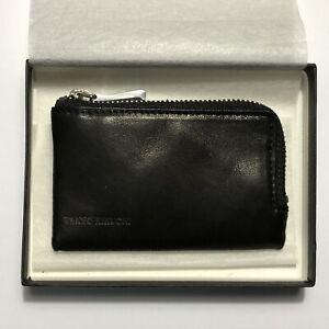 "Black Leather ""KEYUCA"" 3 Key Wallet Case by Japanese Designer TAKEO KIKUCHI"