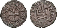 CRUSADES EPIRUS Philip of Taranto (1294-1313) Denier of Lepanto Coin