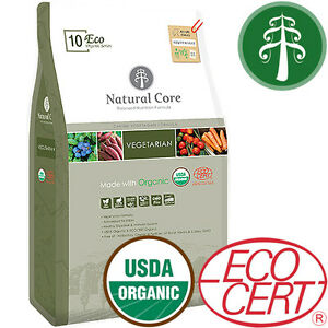 Natural Core ECO 10 Vegetarian Organic Dog Food USDA/ECOCERT Certified(2.2lb/S)