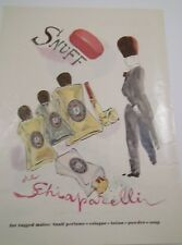 "ORIGINAL ADVT FROM THE NEW YORKER MAGAZINE ""SNUFF de SCHIAPARELLI"""