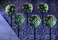 Gardenwize Garden Giardino Patio Luce Solare 6 topiaria BAY TREE decorazione vegetale