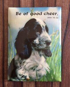 Vintage retro bible verse Catholic Christian dog picture