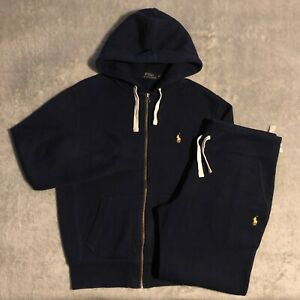 Polo Ralph Lauren Classic French Navy Blue/Yellow Two-piece Tracksuit (S/S)