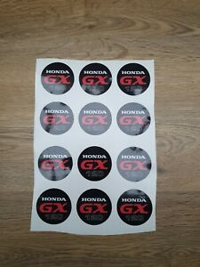 12x Honda GX120  non-genuine replacement sticker for recoil FREE P&P 1st class