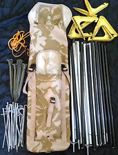 DESERT CAMO POLE / PEG BAG, camping, tent, PLCE, bergen, fishing, side pouch