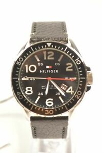 Tommy Hilfiger 1791131 Declan Black Dial Black Leather Men's Watch