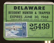DELAWARE 1967 Trapping & Hunting License/ RW34 - 122