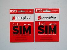 Lot of 2 x Page Plus 4G Lte Dual Sim Cards