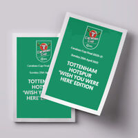 2021 CARABAO LEAGUE CUP FINAL Manchester City v Tottenham Spurs PERSONALISED