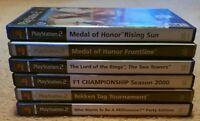 Bundle of 6 Playstation 2 games. Pal region. EA games, Namco, Eidos, EA Sports.