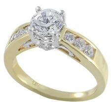 in 10K Two Tone Gold, size 7 1.50ct Tw Brilliant Cut Zirconia Engagement Ring