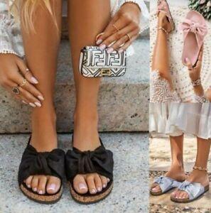 Femmes Mule à Enfiler Paltes Été Noeud Femmes Tongs Sandales Mode Chaussures