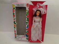 Vintage Tanja Puppe junge Braut dunkle Haare  29 cm voll beweglich 80er Jahre