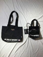 LOT OF 2 VTG 90s Polo Sport Shoulder Tote Bag WALLET