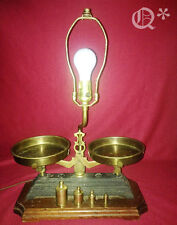 1940s Nightwatch Lamp with Balance Scale