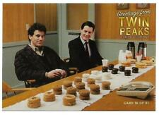 TWIN PEAKS GOLD BOX DVD POSTCARD #16 AGENT COOPER & SHERIFF TRUMAN POST CARD