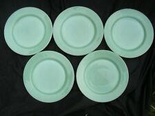 FIVE VINTAGE JADEITE FIRE KING RESTAURANT WARE DINNER PLATES
