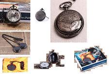 Taschenuhr Harry Potter Motiv Hp + Kette 70cm mit Clip und Haken+Samt-Box